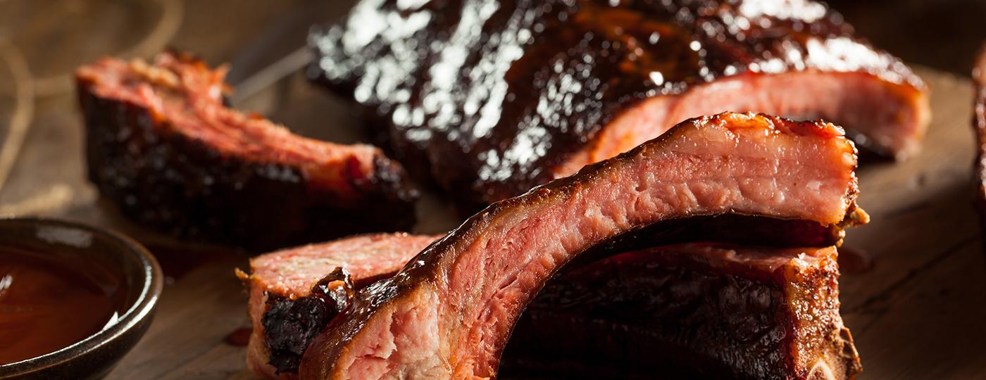 BBQ ribs in restaurant