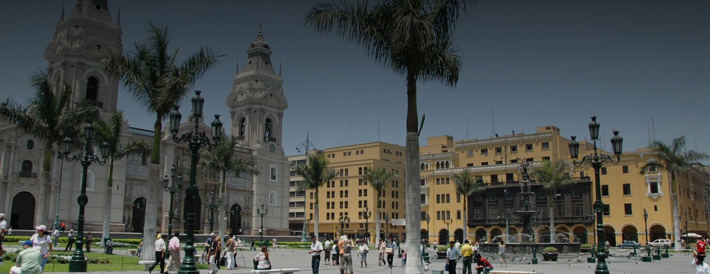 Vista do centro de Lima, Peru