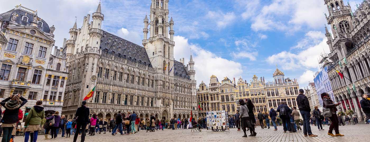 Winterpret in Brüssel