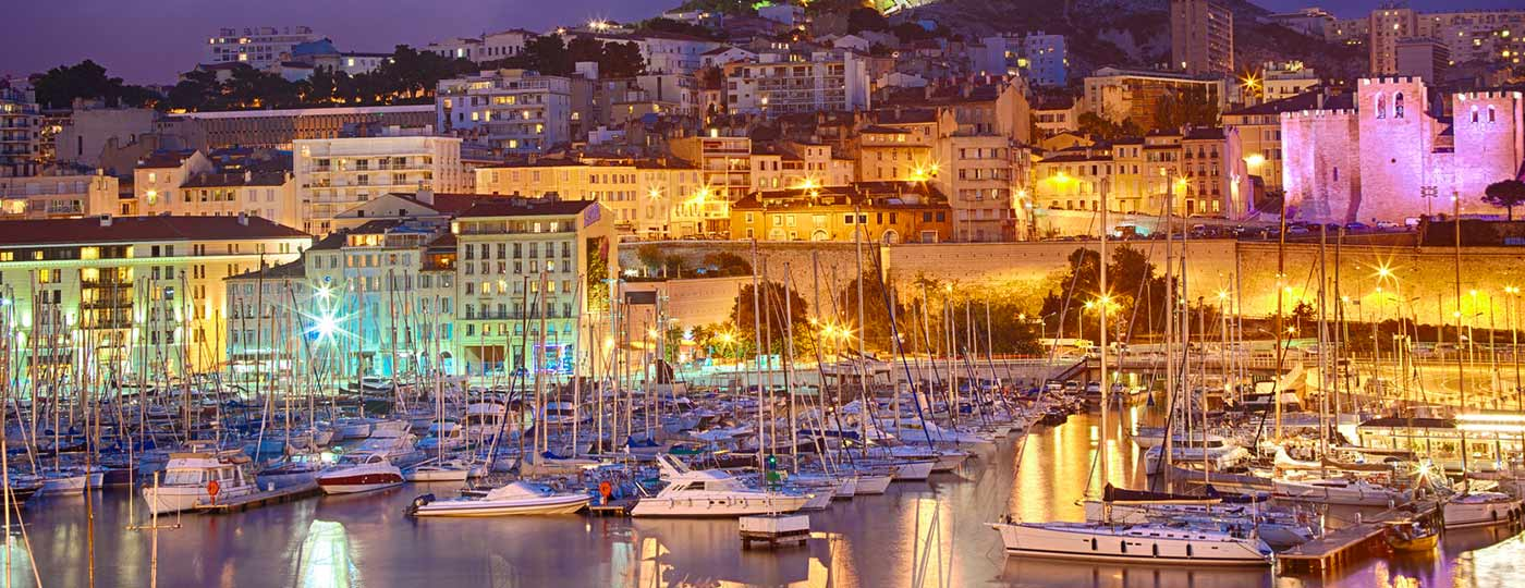 Exceptional venues beside your low cost hotel in Marseilles' old port.