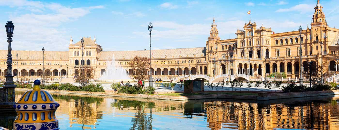Vistas de la Plaza de España, Sevilla