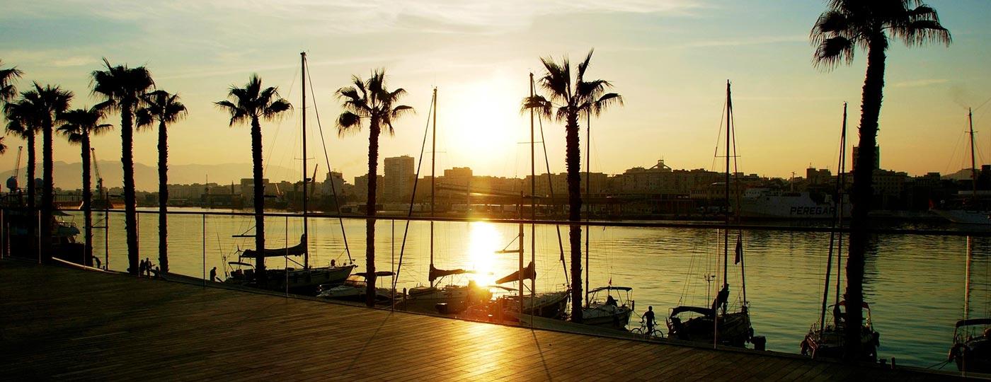 Vista del mar en Málaga