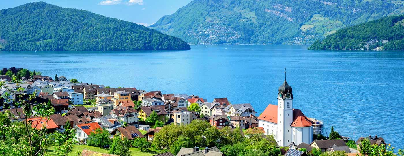 Un piacevole cambio di scena vicino al lago di Lucerna