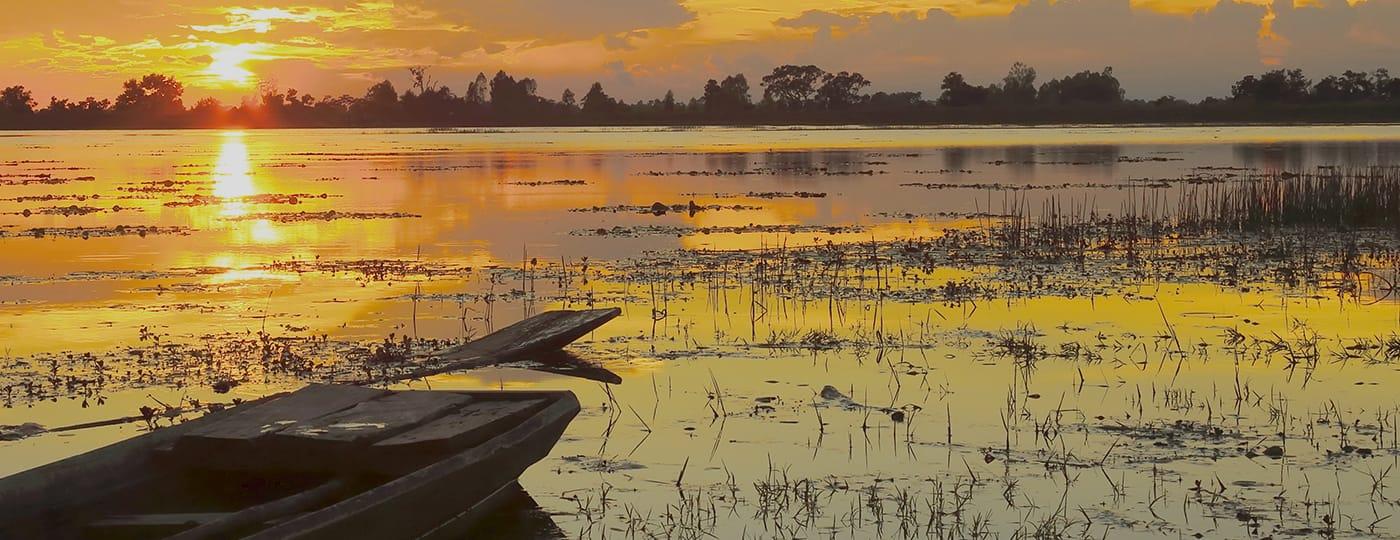 Comidas típicas do Centro-Oeste: pôr do sol no Pantanal