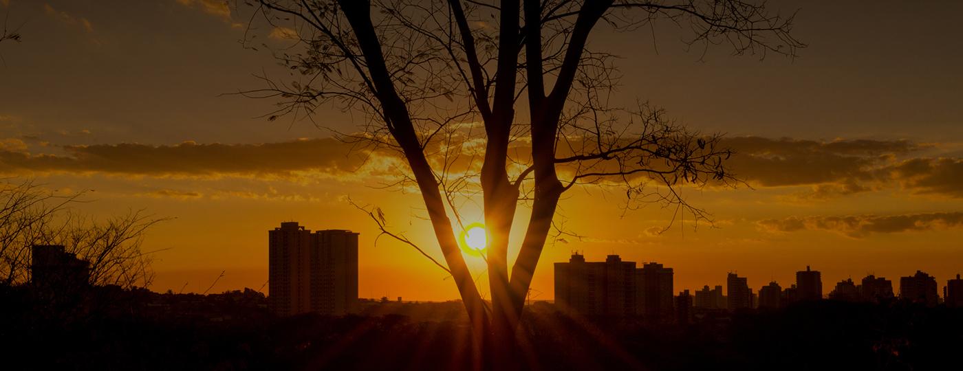 Pôr do sol de um dos pontos turísticos de Ribeirão Preto