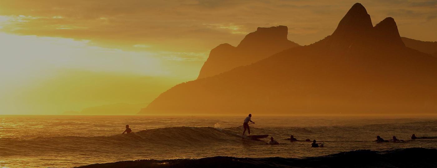 Por do sol na Praia de Ipanema