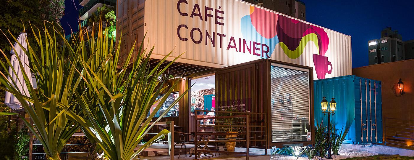 Vista do Café Container em Campinas