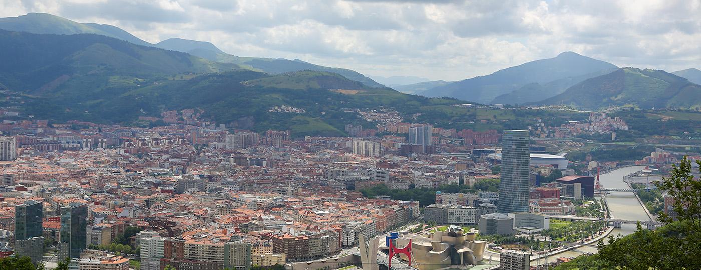 Vista de Bilbao desde el monte Artxanda