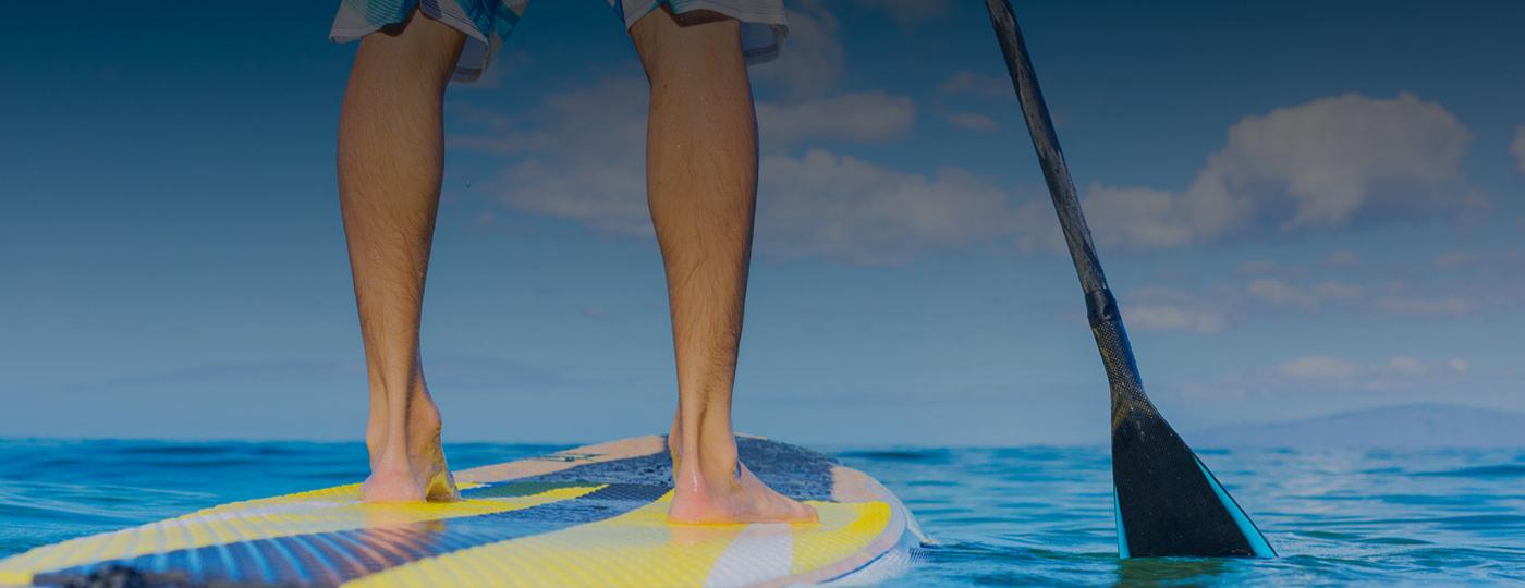 SUP em Maceió em mar de águas cristalinas