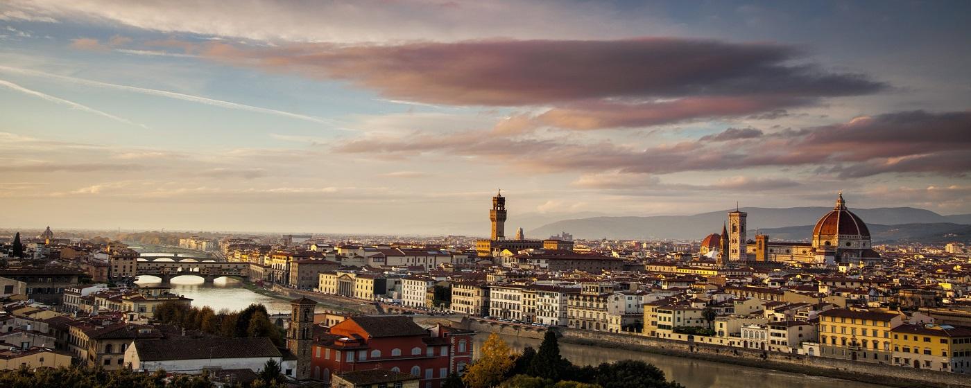 Vista aérea de Florencia, desde tu hotel ibis